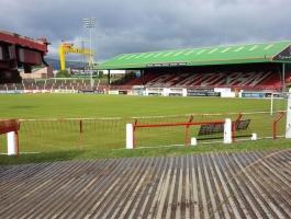 Crane Access Across Football Pitch