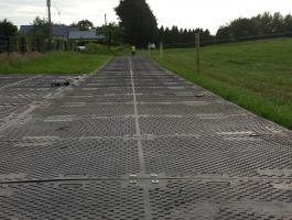 Temporary Access Haul-road on farmers field