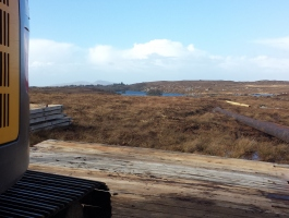 Laying Access Roadway on Blanket Bog, Glenties