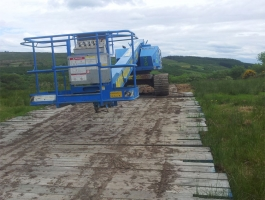 MEWP Access on Boggy Ground